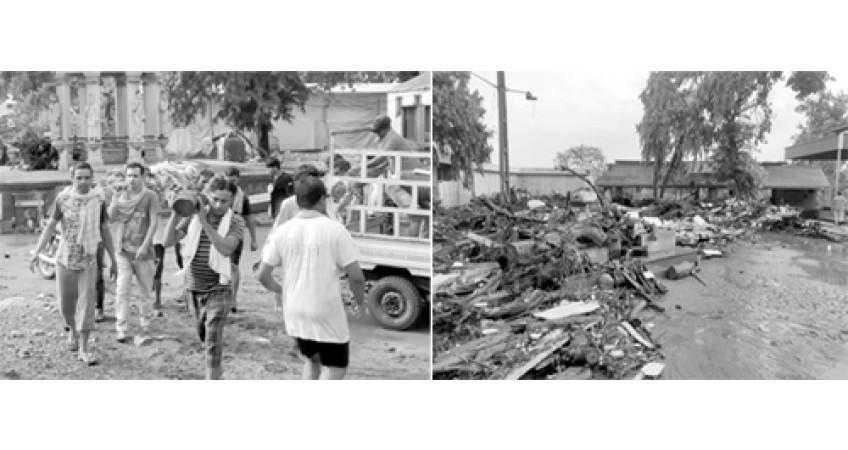 જામનગરના આદર્શ સ્મશાનગૃહમાં મેઘતાંડવથી ભારે તારાજી
